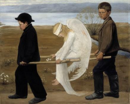 Hugo Simberg, Haavoittunut enkeli ajoitus / The Wounded Angel (1903)