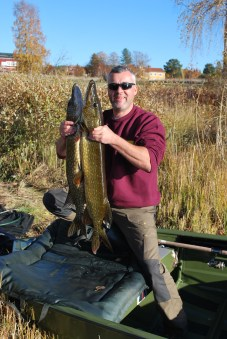 big pike fishing holiday northern sweden