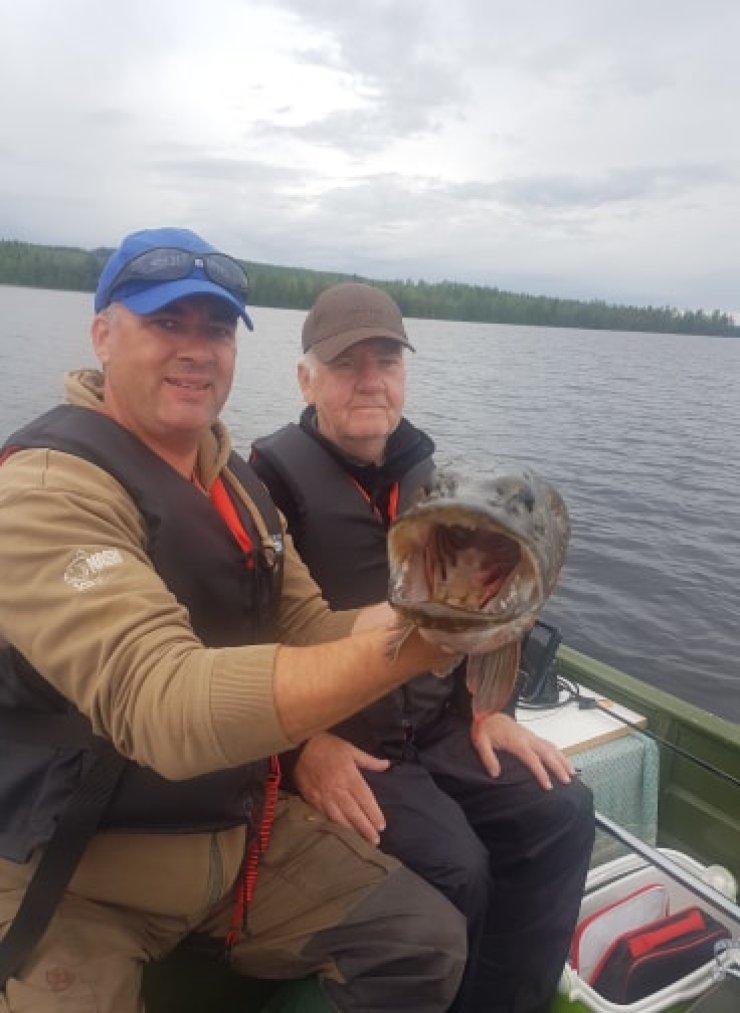 Vindeln Umea Vasterbotten Sweden mega mouth pike fishing with sweden fishing and birding evening trip