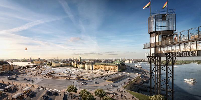 新船閘地區落成後的模擬圖。(圖: 斯德哥爾摩市政府)