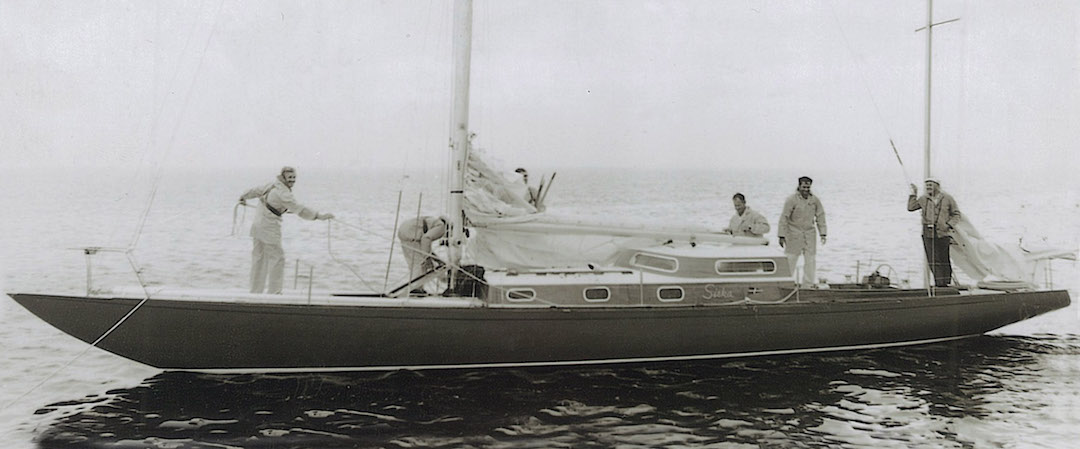 Siska arriving at Albany in south-west Australia during the Fremantle – Albany race in 1969 © Rolly Tasker archive