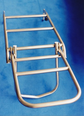 Removable and folding rescue/bathing ladder for Swede 55 © Swedesail