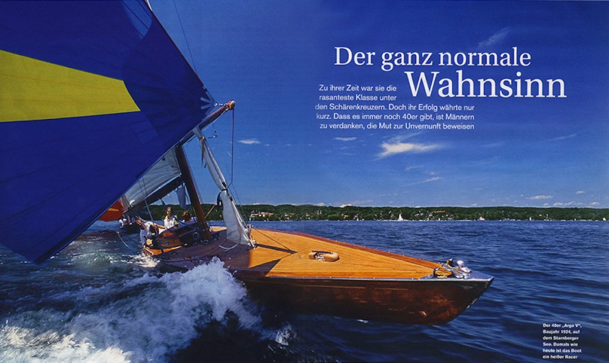 Article covering the 40 sqm boat scene of Starnberger See near Munich