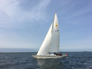 Swede 55 with new mainsail