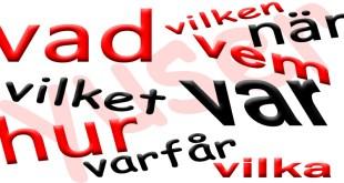 كلمات الأستفهام في اللغة السويدية