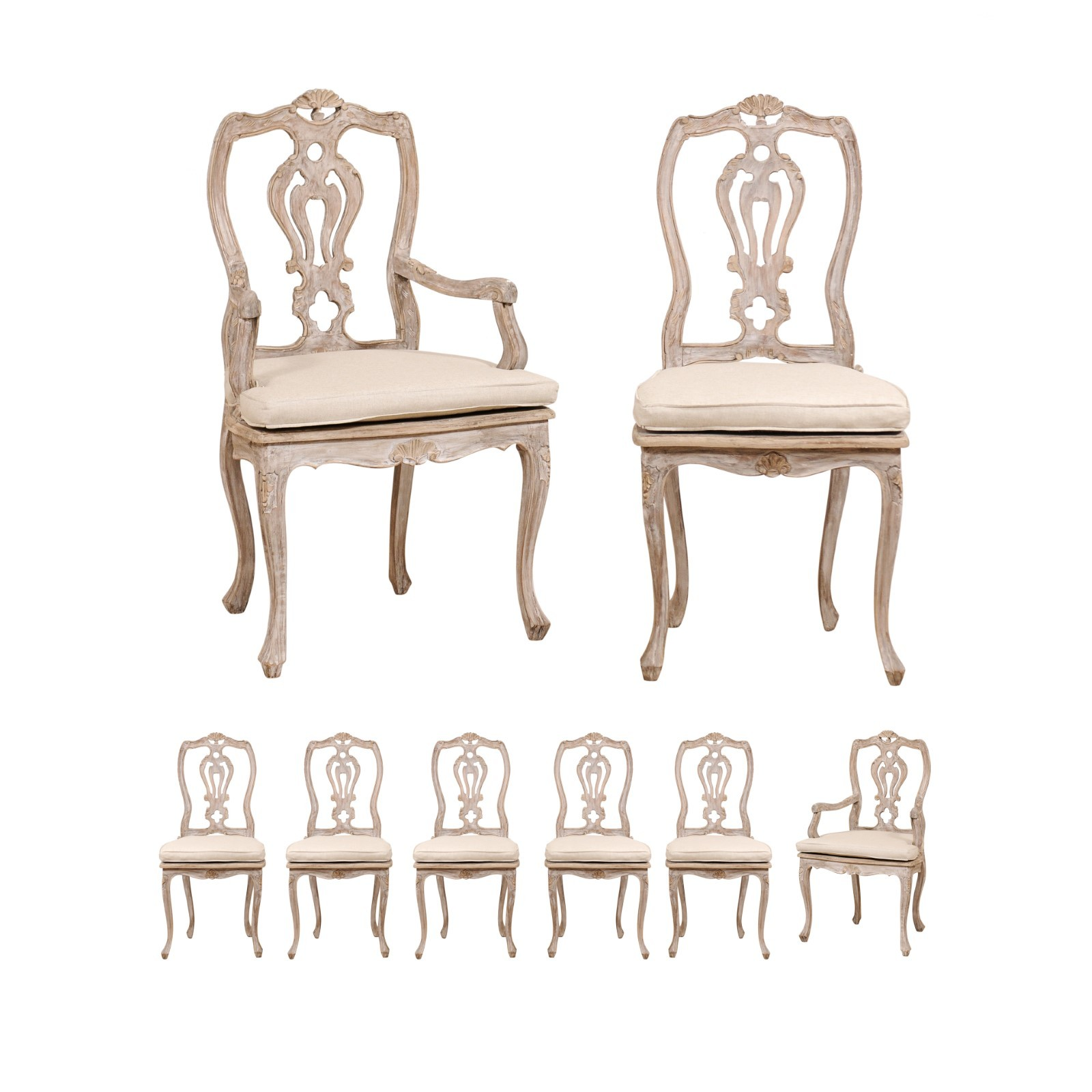 Italian Dining Chairs Set Of 8 Italian Dining Chairs W Cushions 404 A Tyner Antiques