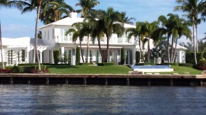 One of hundreds of waterfront mansions.