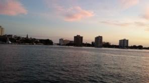Waning daylight over Lake Boca Raton.