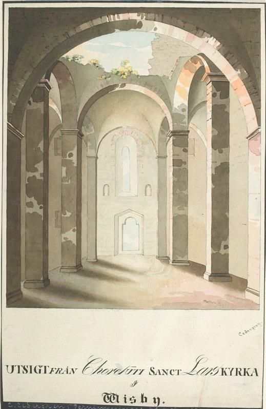 Interior of Saint Lars Church Ruin