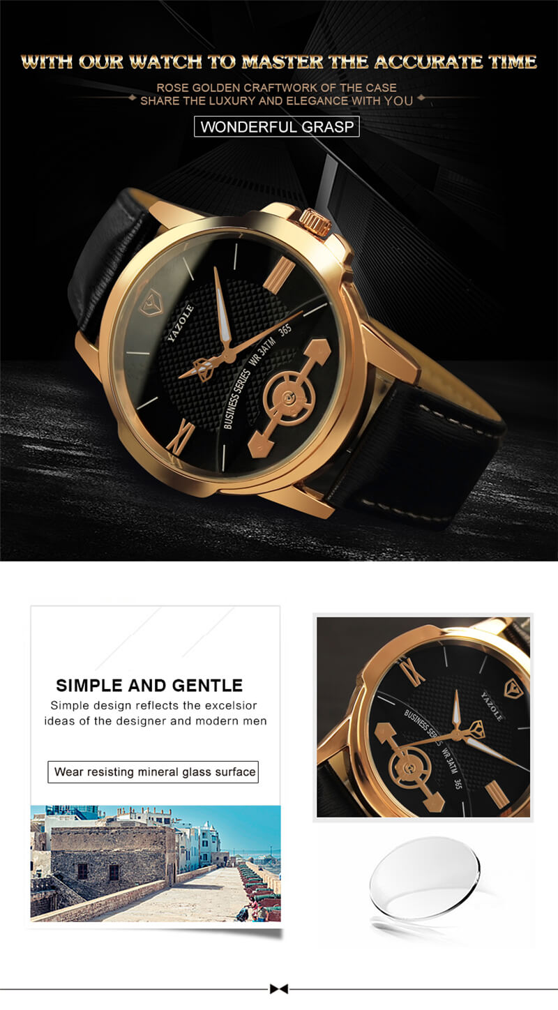 Classic Leather Strap Watch 7