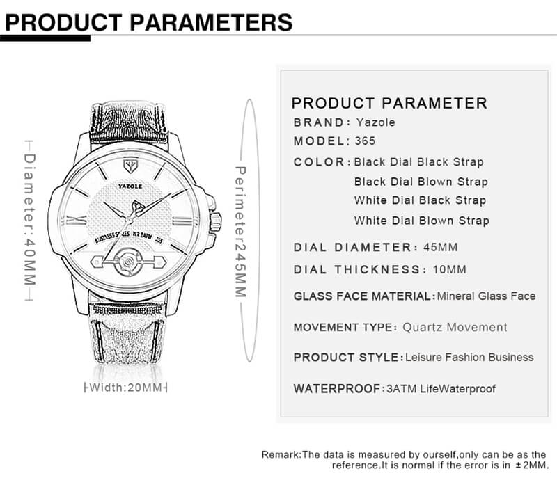 Classic Leather Strap Watch 8