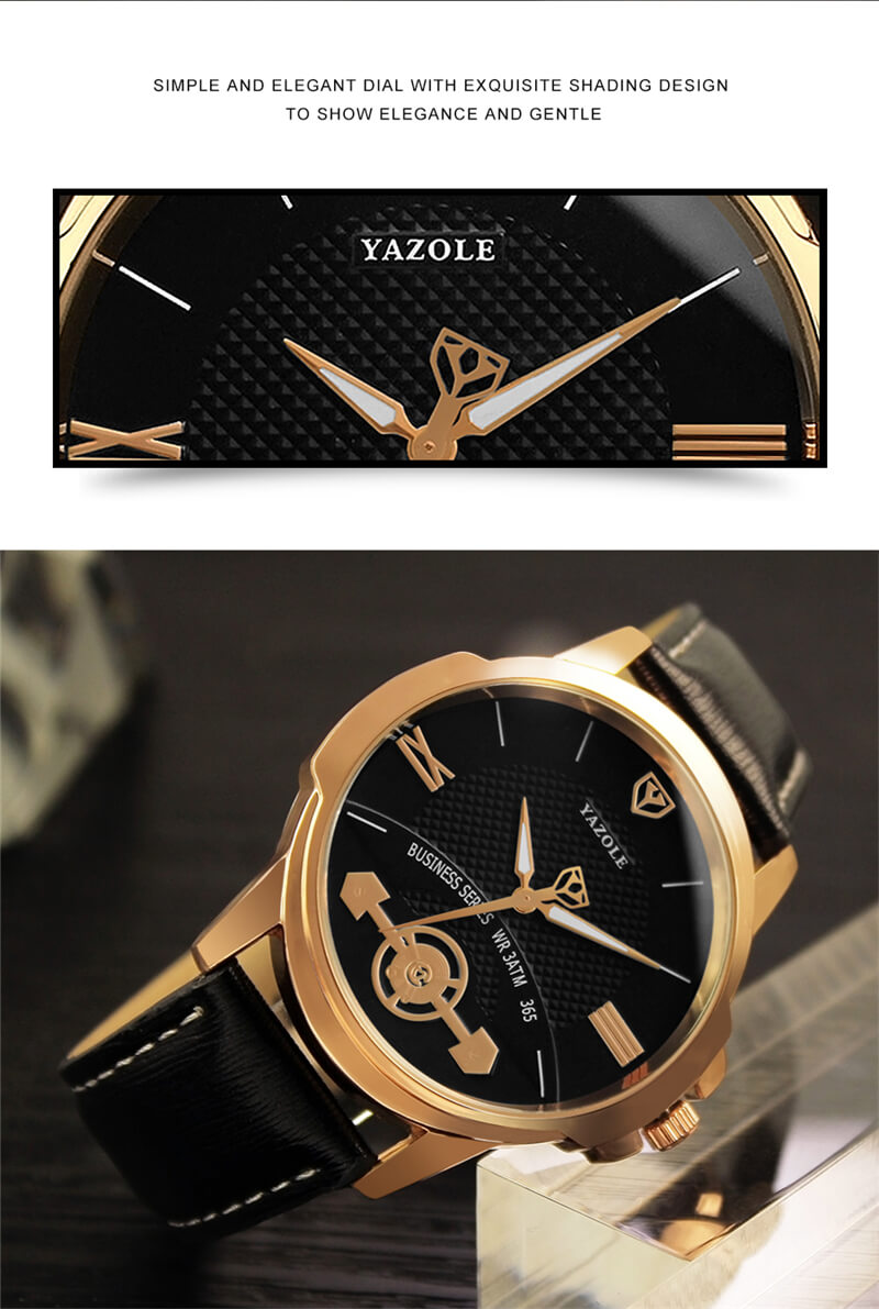 Classic Leather Strap Watch 6