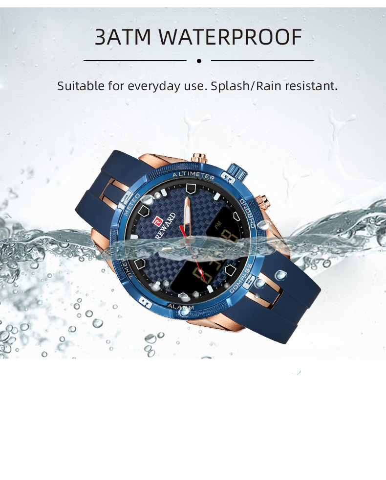 Men's Watch With Silicone Band 6