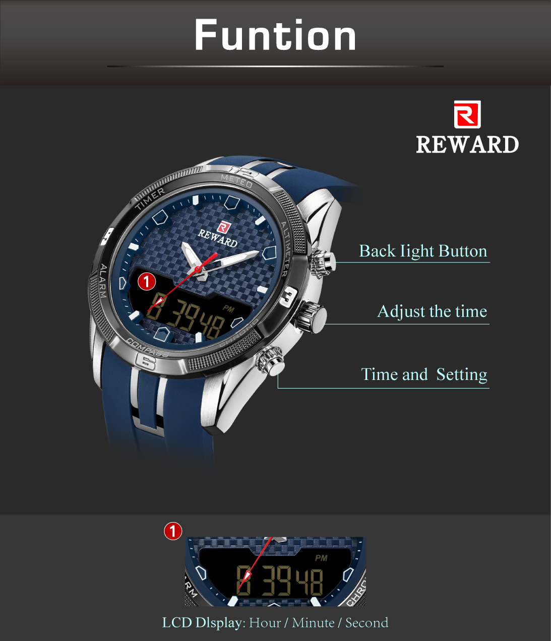 Men's Watch With Silicone Band 4