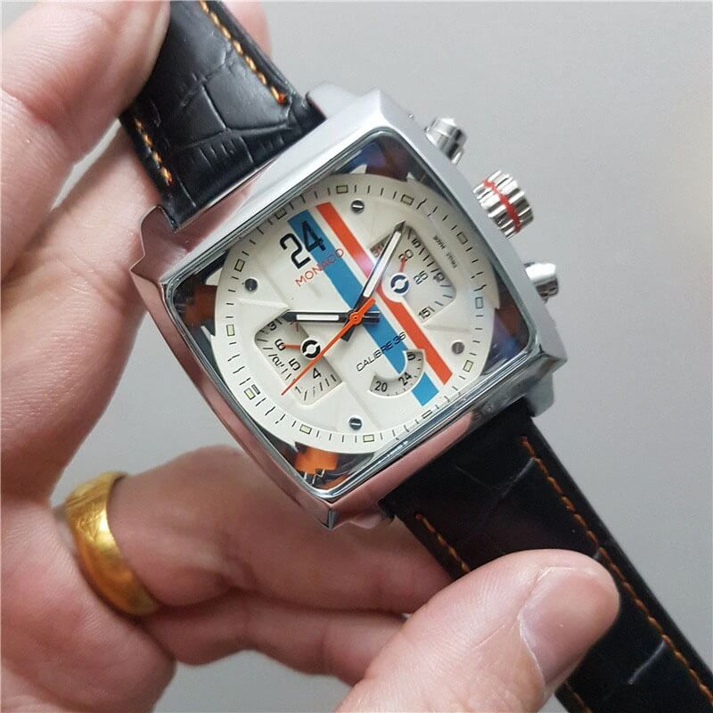 Automatic Watch Leather Strap 6