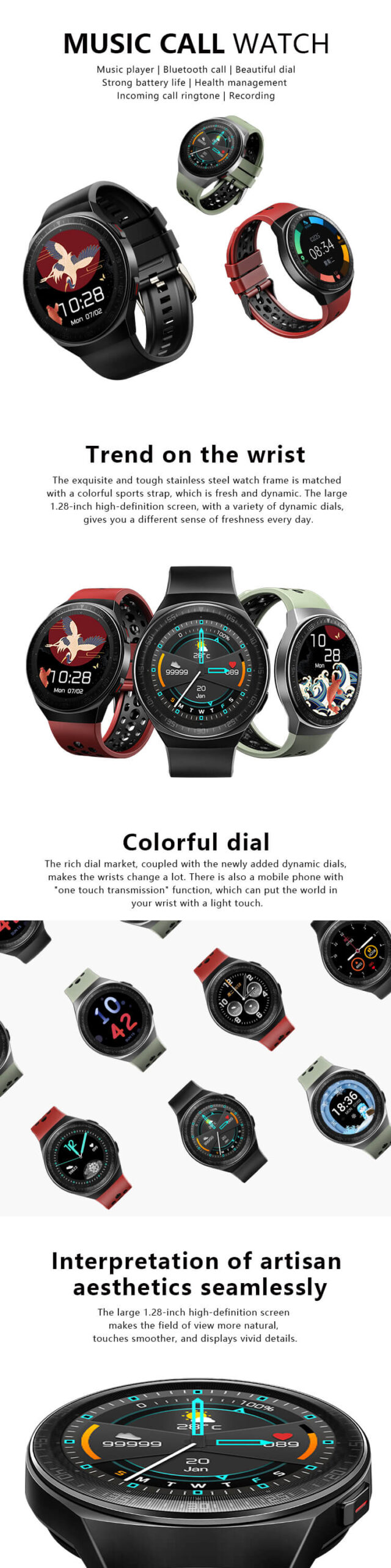 Smartwatch With Mic And Speaker 19