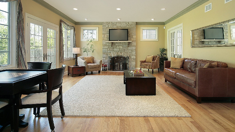 your living room coastal and kitchen clean with the best cleaning service in area call sweep away to have business