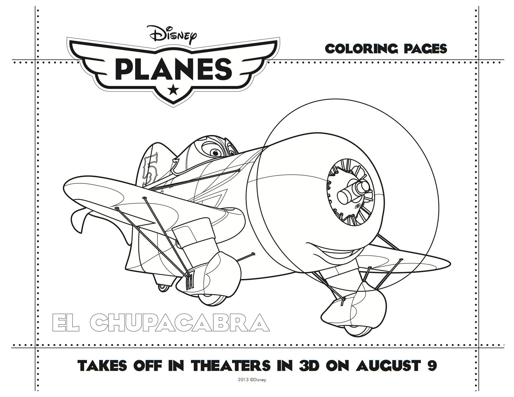 Disney Planes Printable El Chupacabra Coloring Sheet