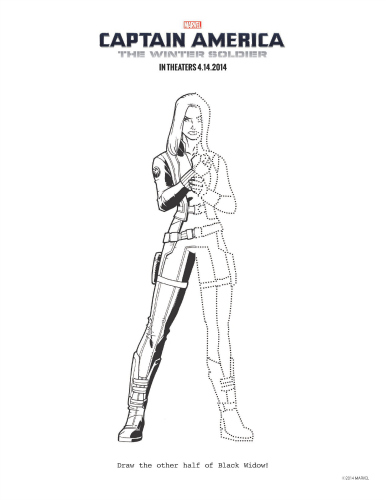Printable Captain America: The Winter Soldier Black Widow
