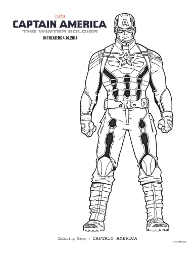 Captain America: The Winter Soldier Free Printable