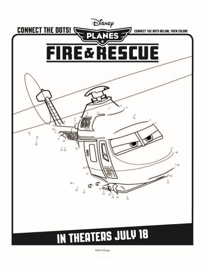 Free Disney Planes Fire & Rescue Printable Connect the