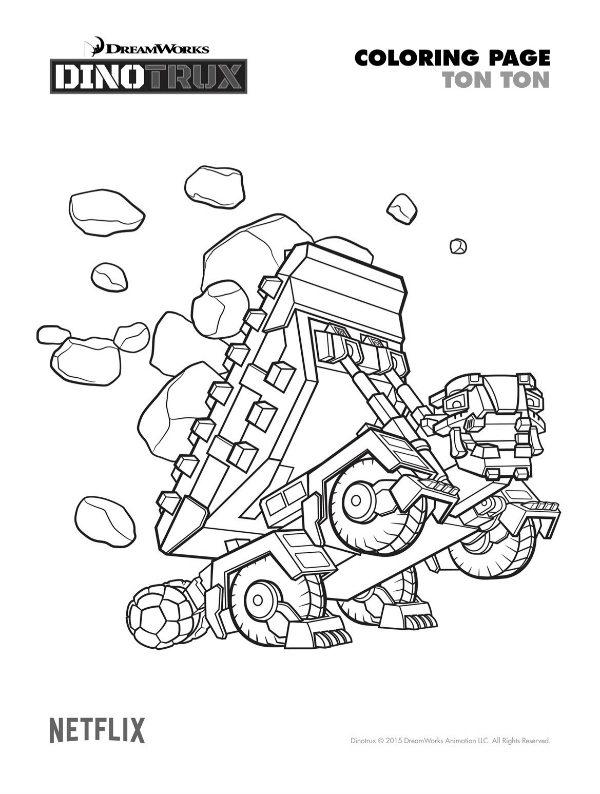 Free Printable Dinotrux Ton Ton Coloring Page Mama Likes