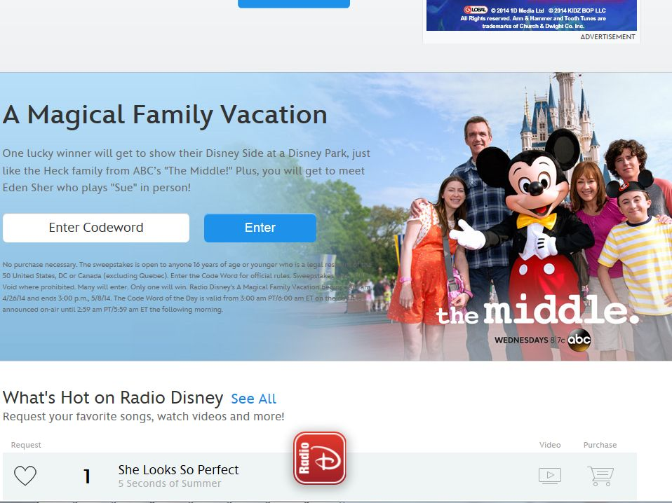 Disney Radio A Magical Family Vacation Sweepstakes Code Required