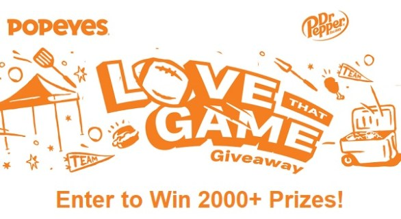 Popeyes Love That Game Instant Win Game 2020