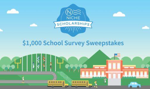 Niche $1,000 School Survey Scholarship Sweepstakes