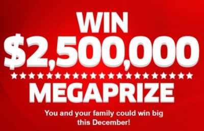 PCH $2.5 Million Mega Prize Sweepstakes