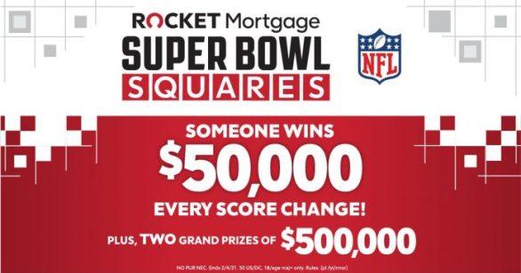 Rocket Mortgage Super Bowl Squares Sweepstakes