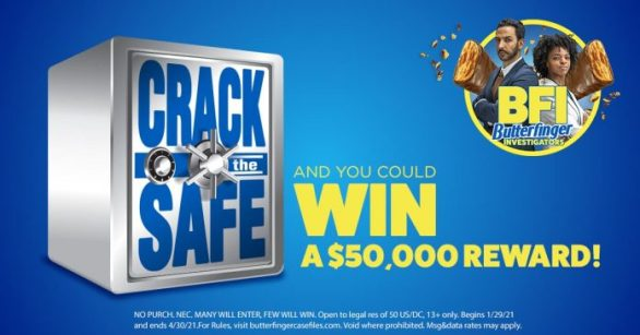 Butterfinger Crack The Safe Sweepstakes and Instant Win Game 2021