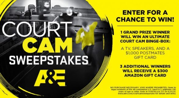 AETV Court Cam Sweepstakes 2021