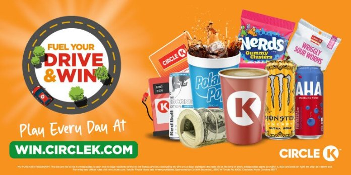 Circle K Fuel Your Drive and Win Instant Win Game