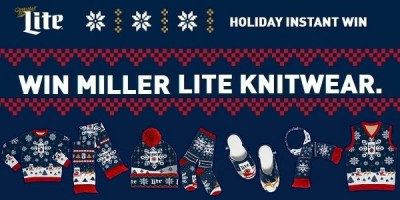 Sweepstakes for Miller Lite Ugly Sweater Instant Win Game