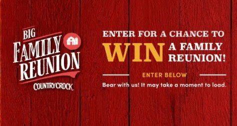 COUNTRY CROCK $50K BIG FAMILY REUNION SWEEPSTAKES