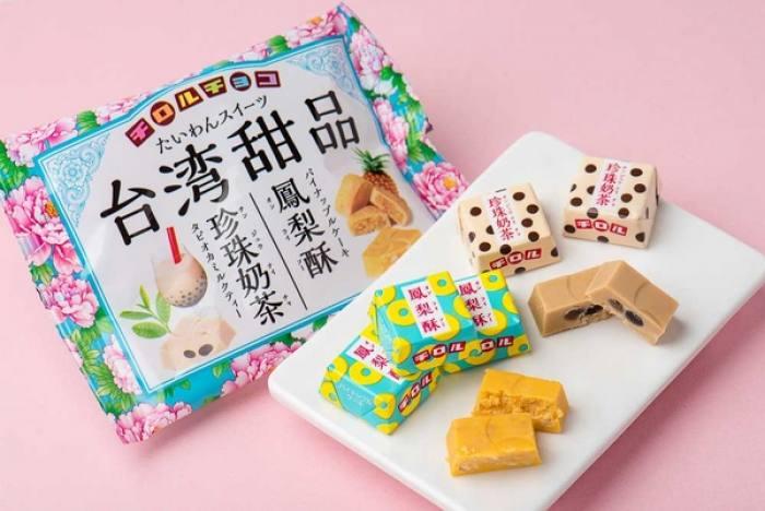 把珍珠奶茶鳳梨酥變日本滋露臺灣甜品巧克力