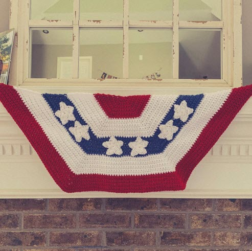 Free Crochet Pattern Red White And Blue Banner Sweet Home Kentucky
