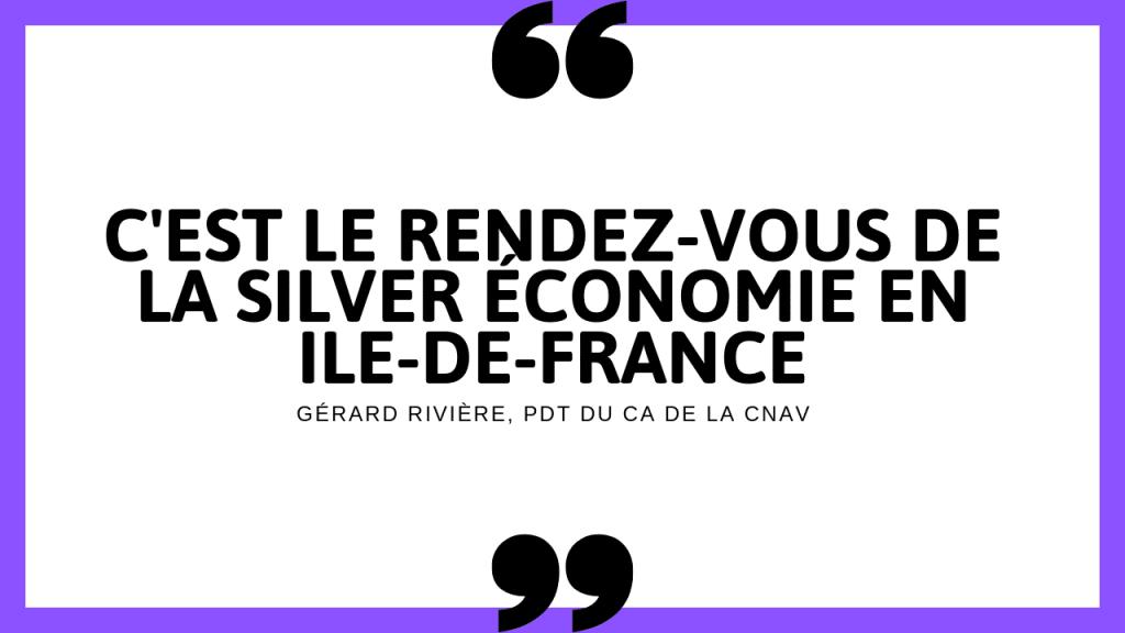 Selon G Rivière, la bourse Charles Foix, c'est le rendez-vous de la silver économie en Ile de France