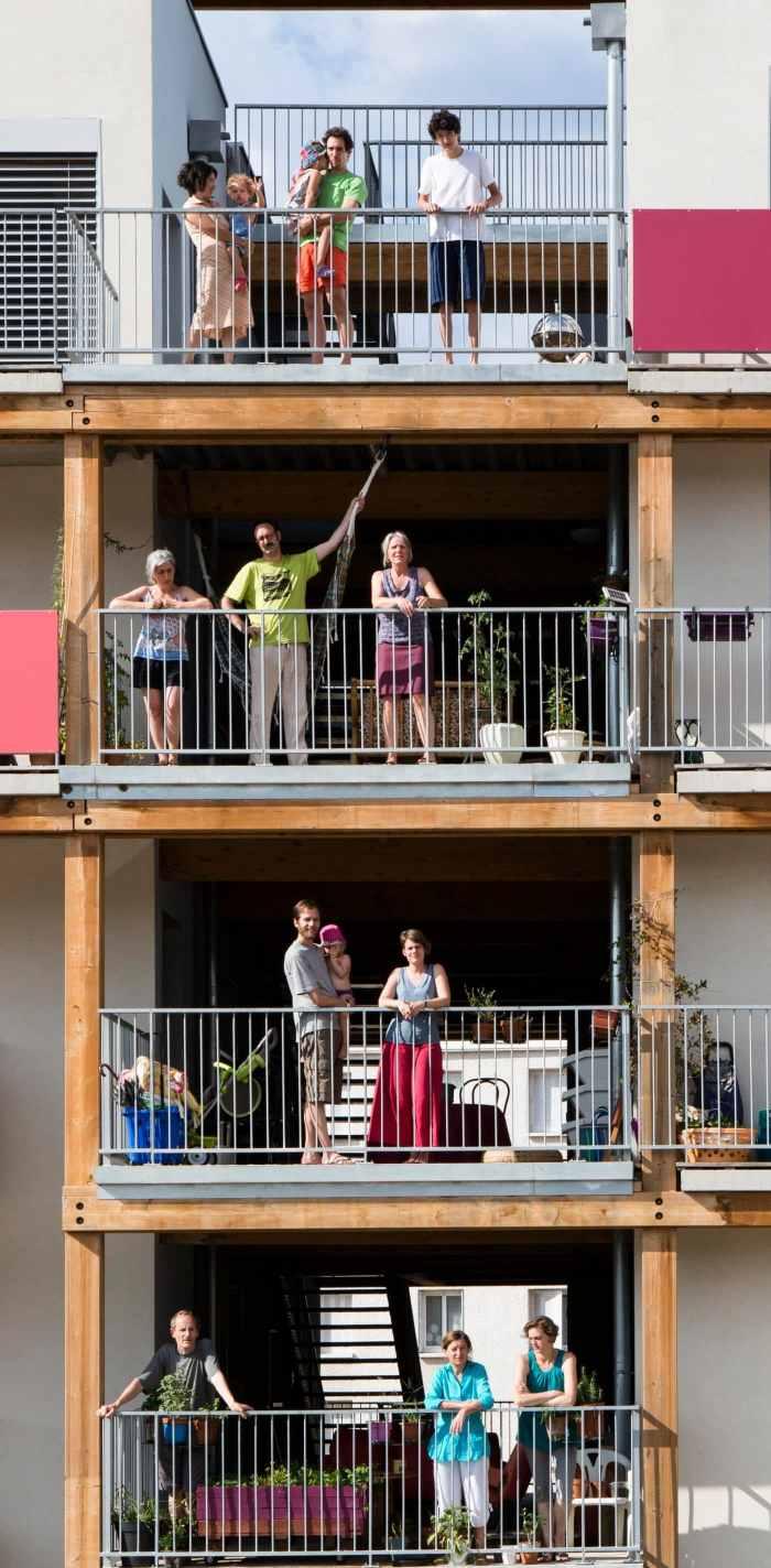 Le village Vertical, un projet de cohabitat installé à Villeurbanne qui a été porté par Habicoop