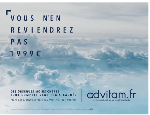 Campagne affichage Advitam Automne 2019