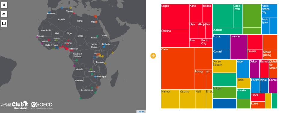 Les plus grandes zones urbaines par population – Africapolis