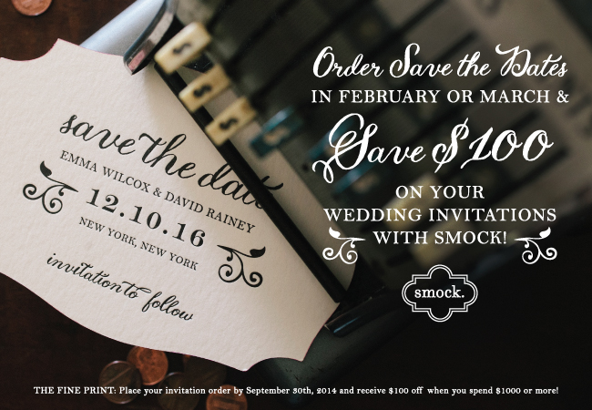 Save $100 on Wedding Invitations