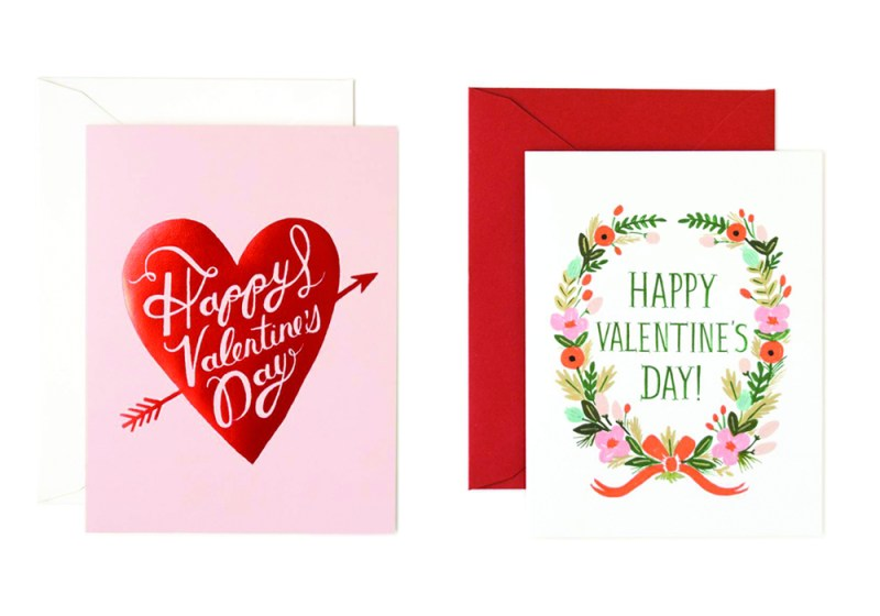 Happy Valentine's Day Heart Card and Happy Valentine's Day Garland Card by Rifle Paper Co.