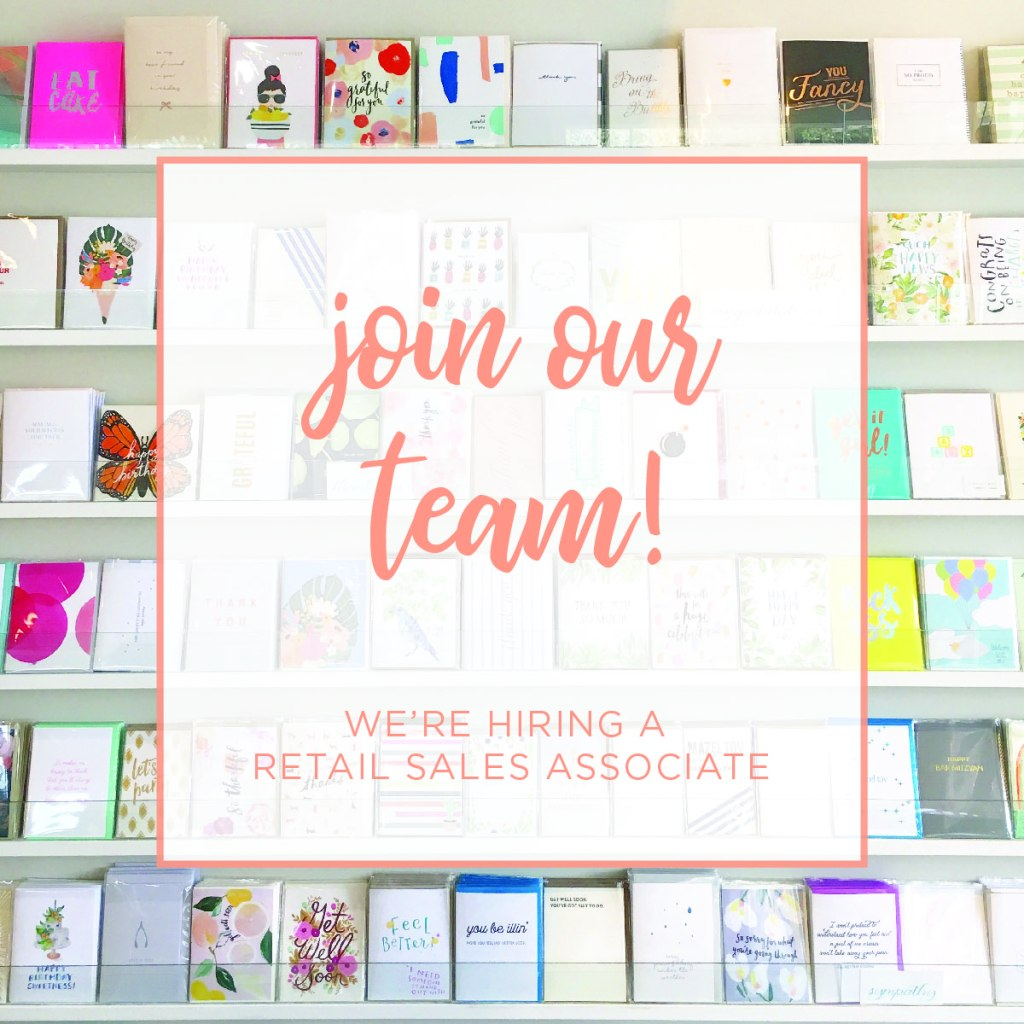 Love Stationery?! We're Hiring!