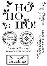 Sweet Poppy Stencil: A5 Stamp Set Christmas Blessings