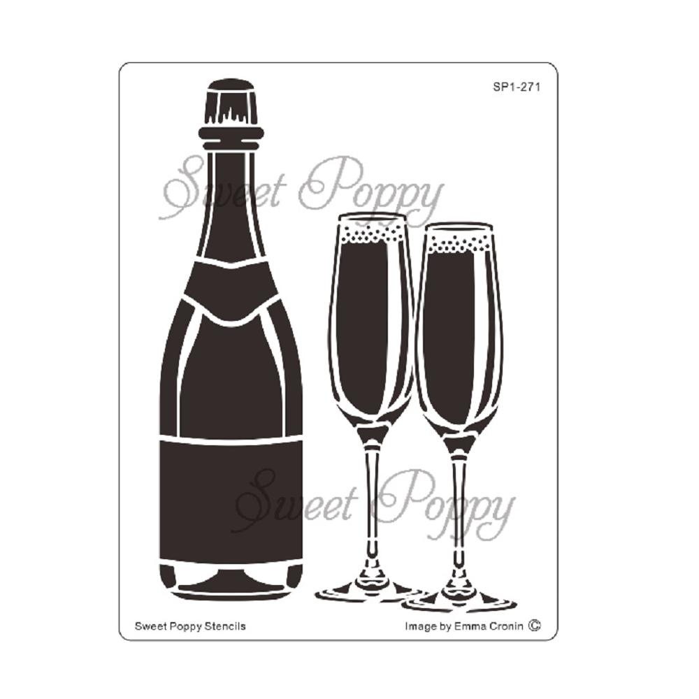 Sweet Poppy Stencil: Boozie Bubbles