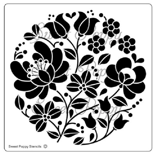 Sweet Poppy Stencil: Honeysuckle Circle