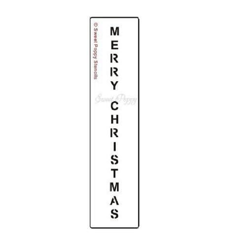 "Sweet Poppy Stencil: Merry Christmas ""B"" Verical"