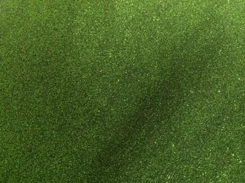 Sweet Poppy Stencil: Satin Glitters Moss Green